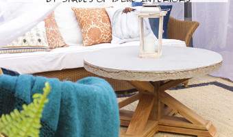 Pottery Barn Knockoff Outdoor Coffee Table + Free Plans