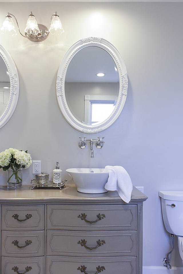 Used Bathroom Vanity Cabinets White Mdf Bathroom Cabinet: Stunning Bathroom Tour + Dresser Into Double Vanity