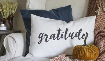 """How to Make a """"Gratitude"""" Pillow"""
