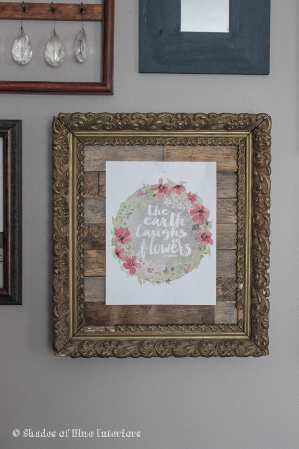 Wood Planked Picture Frame