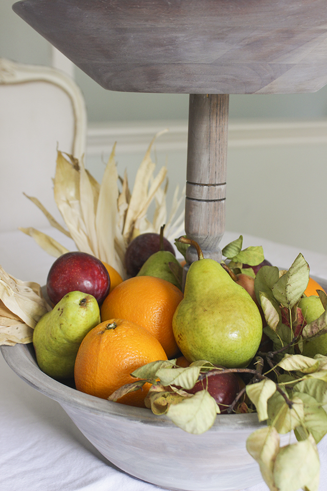 Fall Fruits - DIY Wooden Carved Tiered Tray