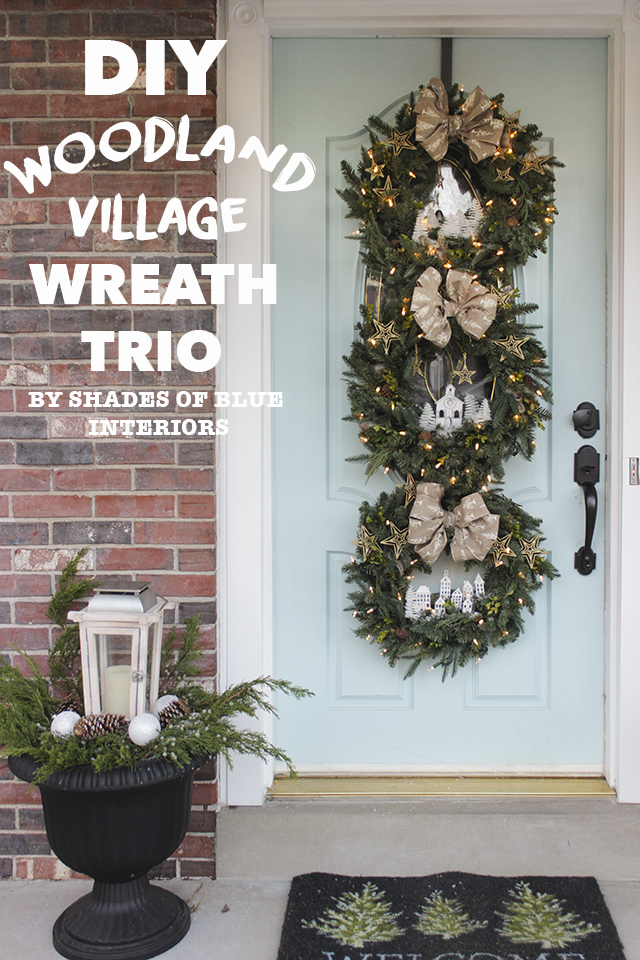 DIY Woodland Village Wreath Trio