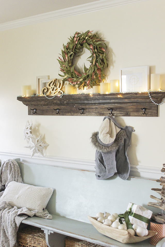 Mantel Shelf with Hooks