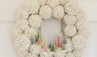 Christmas Ideas for a Little Girl's Room + PomPom Wreath