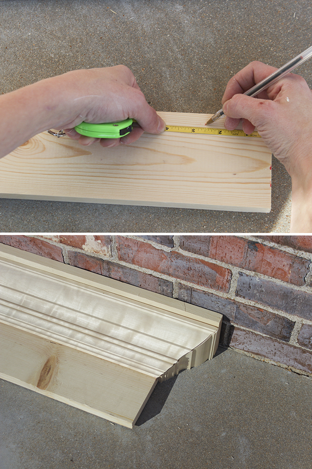 Dry Fitting Crown Moulding for Mantel