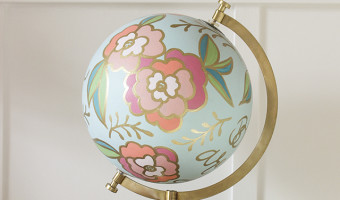 Floral Hand Painted Globes in the Shop!