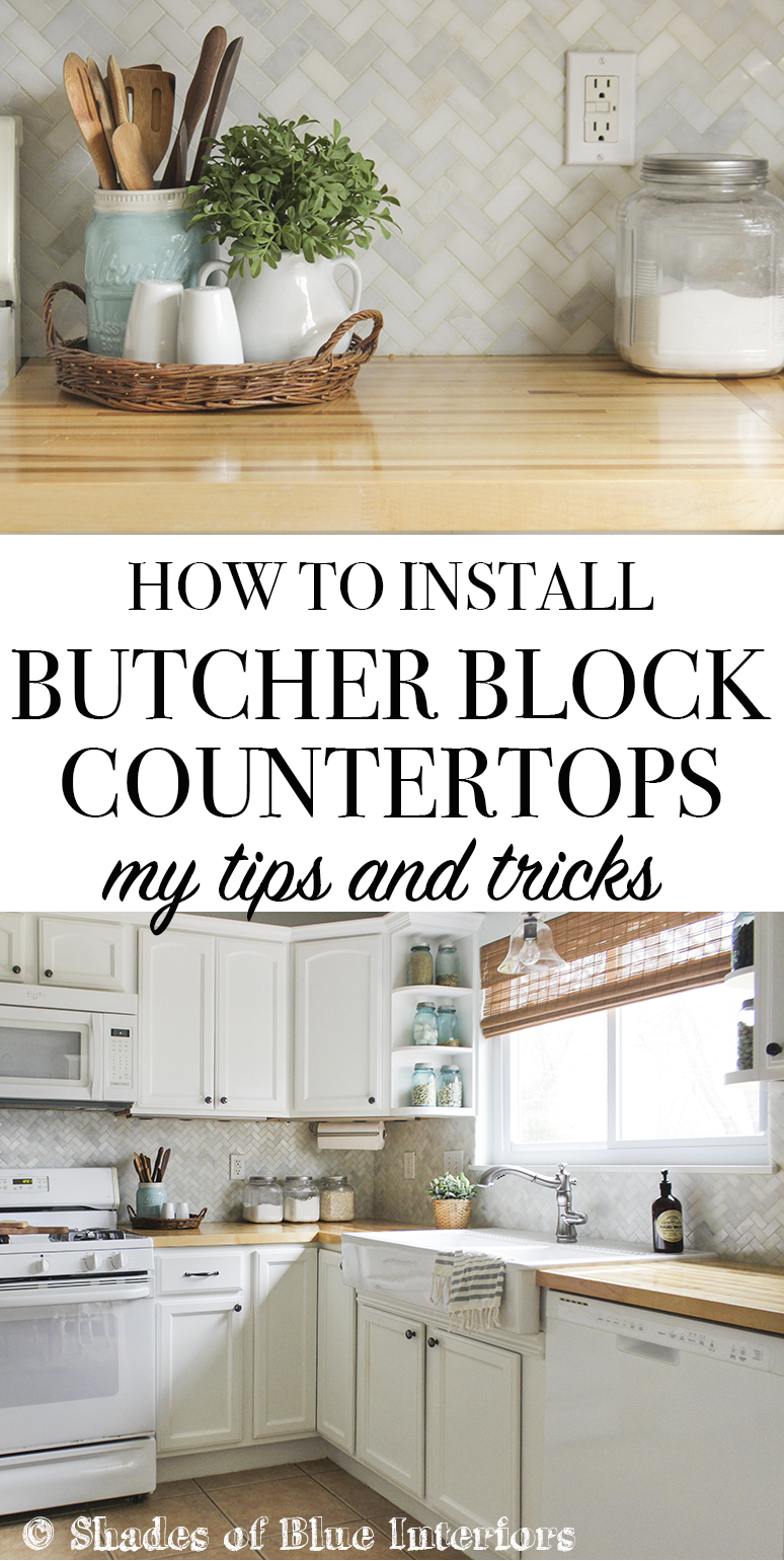 How to Install Butcher Block Countertops - My Tips and Tricks