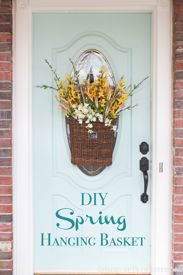 DIY Spring Hanging Basket with flowers