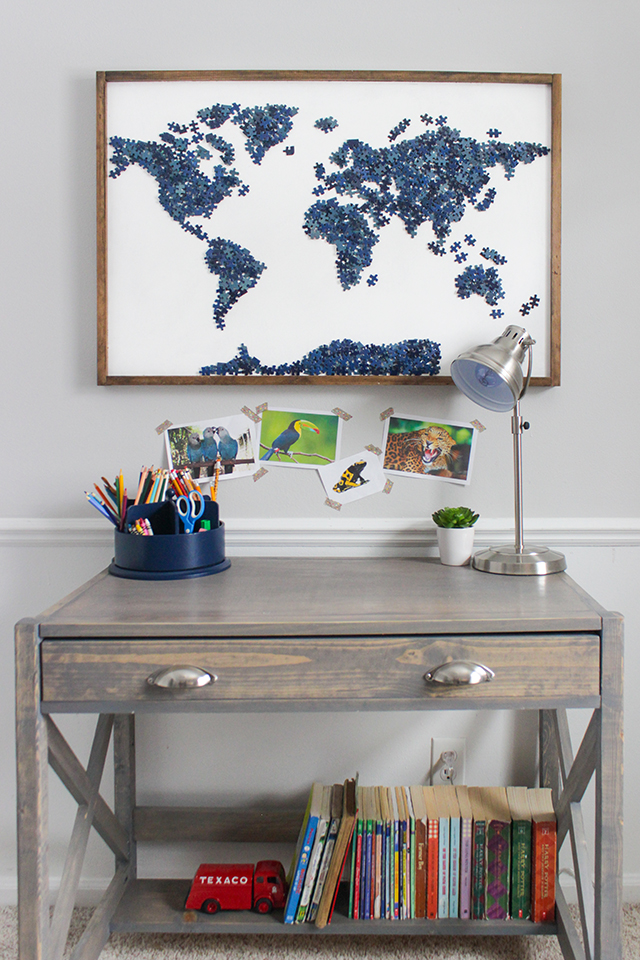 DIY Upcycled Puzzle Art
