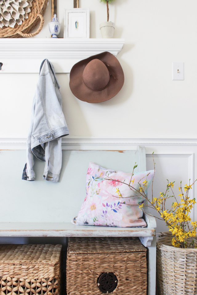 Cozy Spring Home Tour - Entry Bench