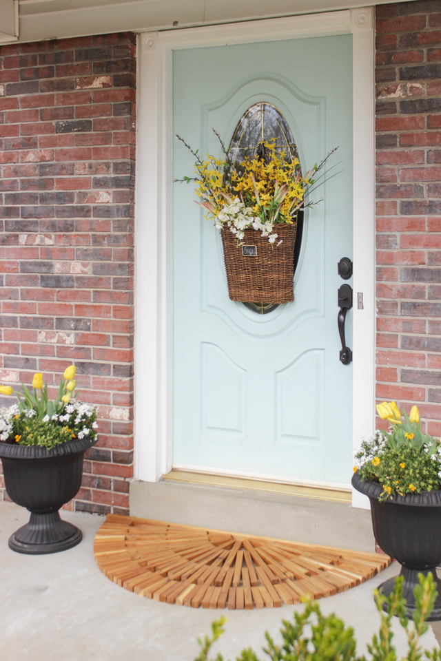 Cozy Spring Home Tour - Wooden Door Mat