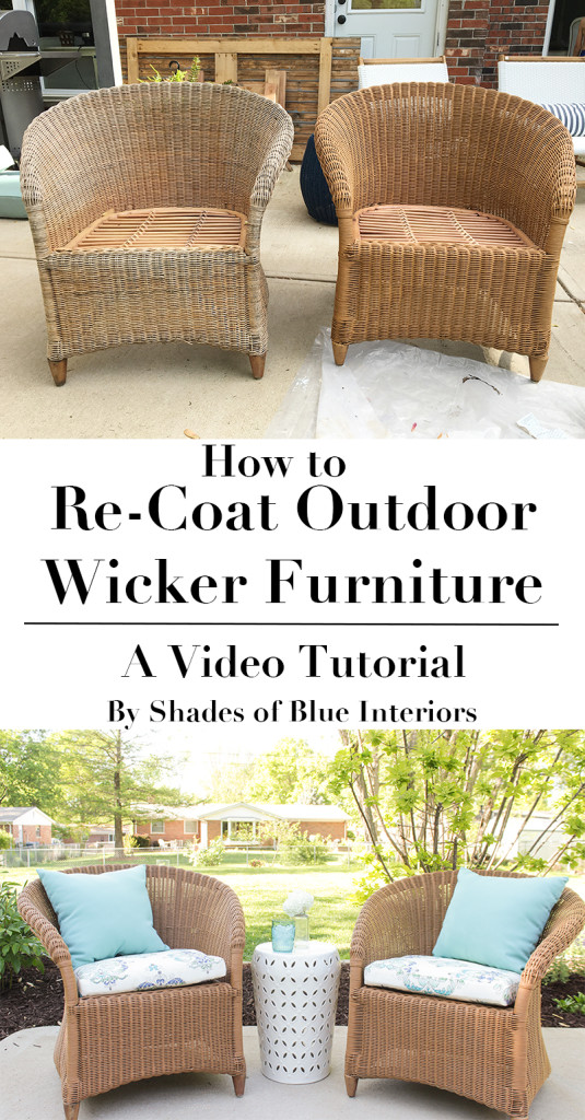 How To Re Coat Wicker Furniture Shades Of Blue Interiors