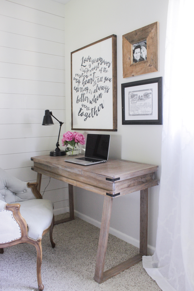 white desk for bedroom creating a white washed weathered oak finish 17829