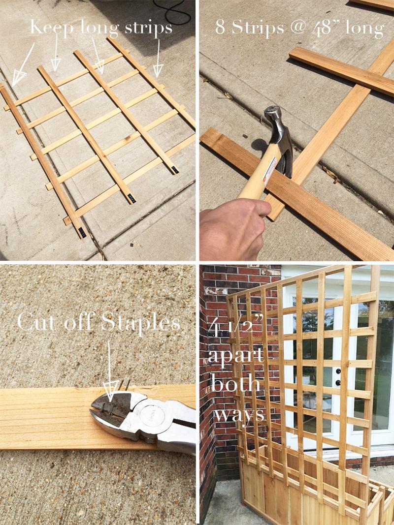 Cedar Trellis on Ceder Planter Step 6