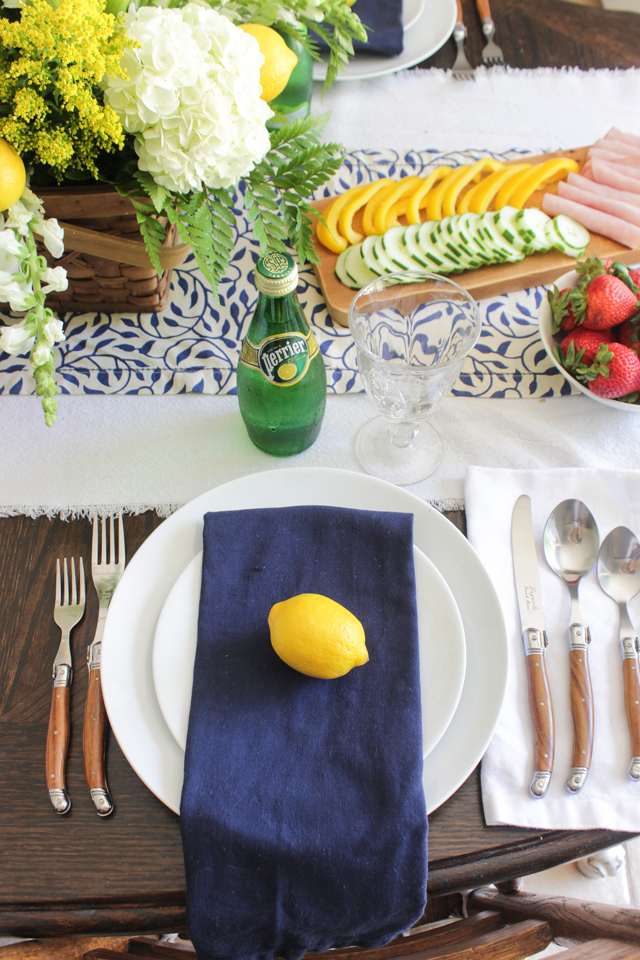 Place setting for summer table