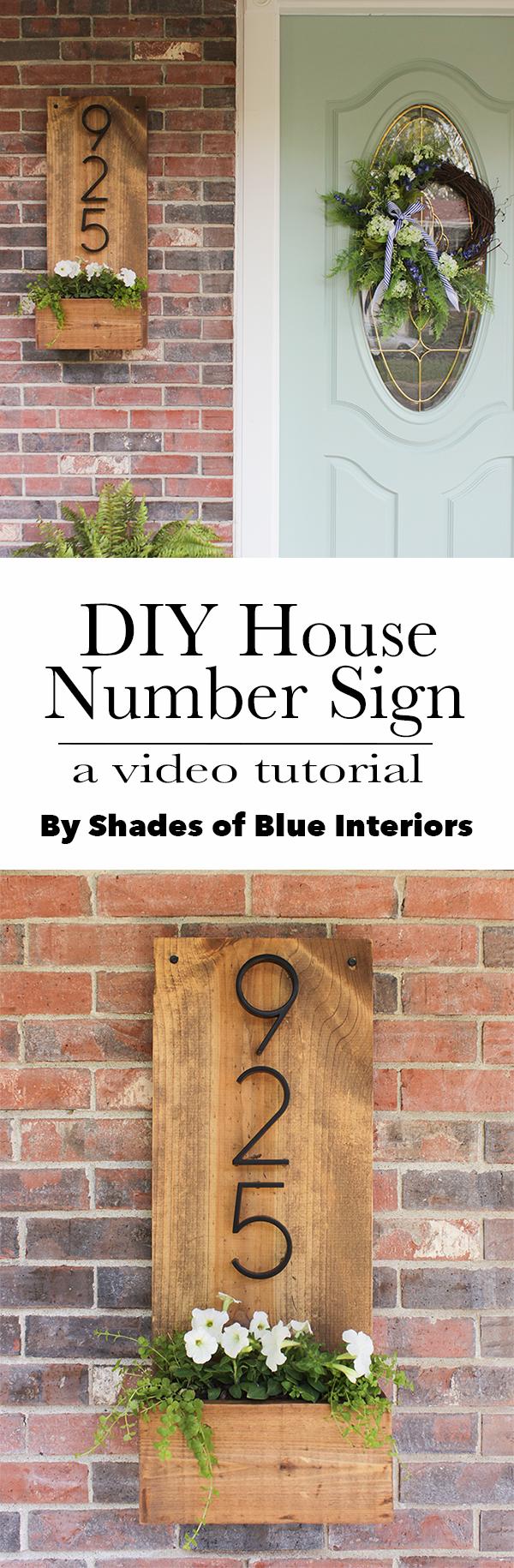 DIY-House-Number-Sign