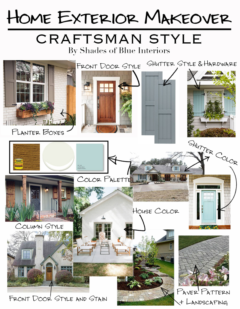 Home Exterior Makeover Plans - Craftsman Style