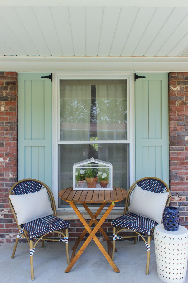 Diy Craftsman Style Outdoor Shutters Shades Of Blue