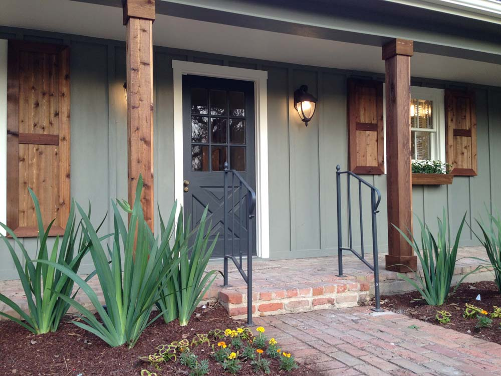 Home exterior makeover plans shades of blue interiors Outside paint for wood