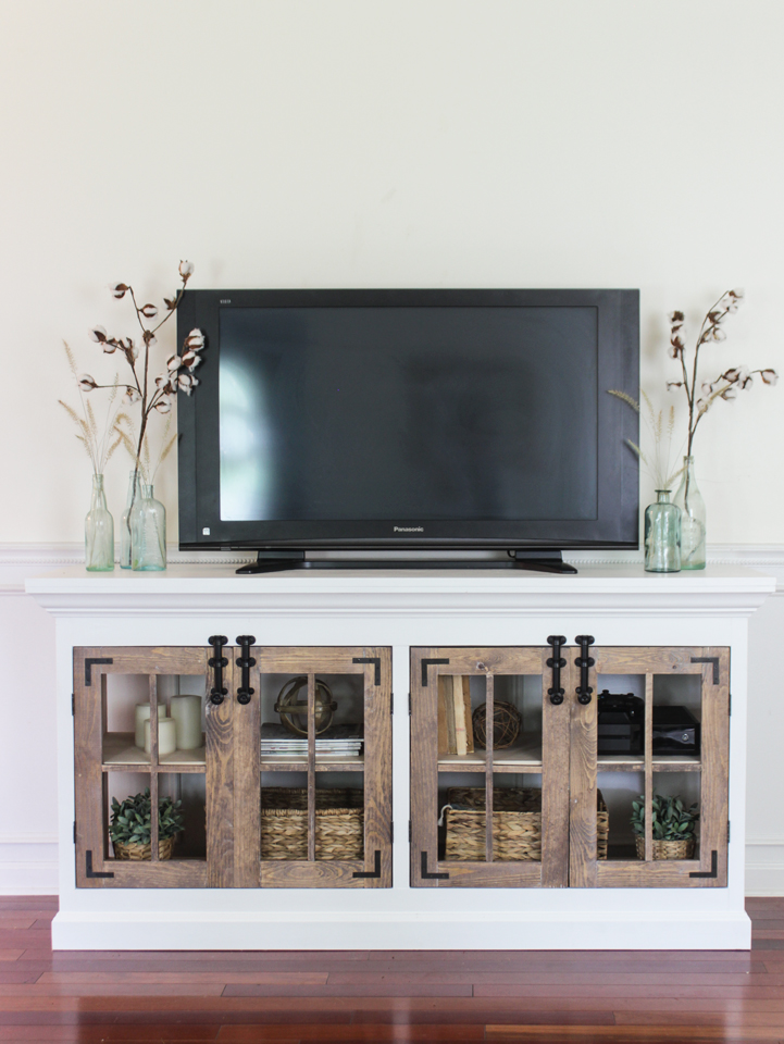 Farmhouse Media Cabinet- Free Build Plans
