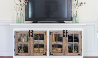 Farmhouse Media Cabinet – Free Plans