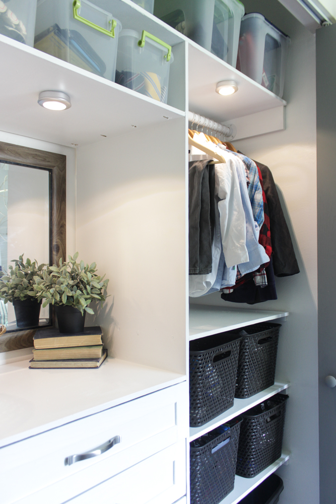 Closet makeover with LED lights