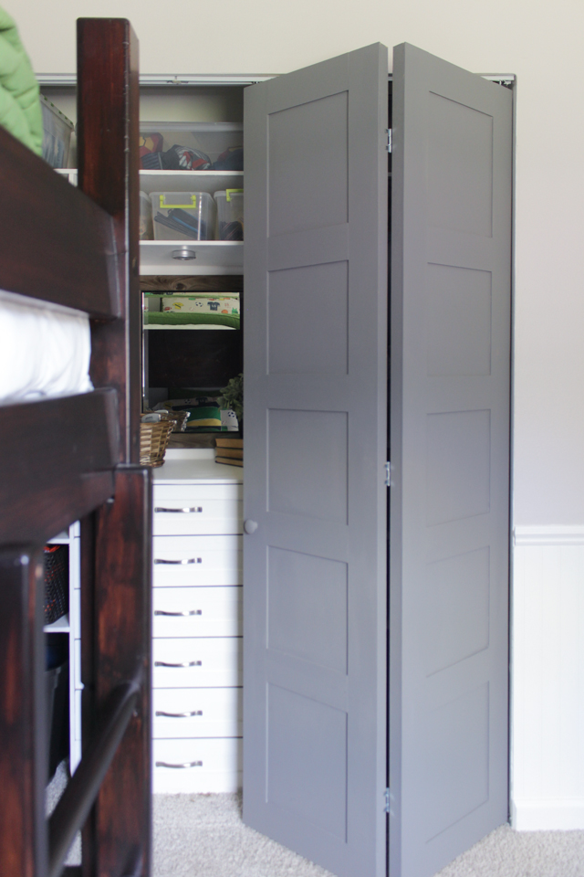 DIY Craftsman Style Closet Doors - Shades of Blue Interiors