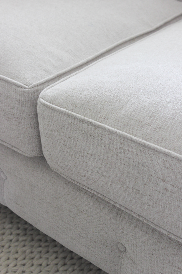 "Curious Pearl fabric on Josephine 88"" Tufted Sofa from Joss&Main"