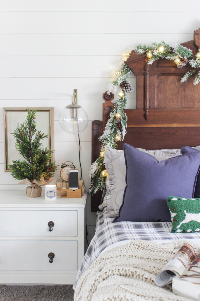 Rustic Christmas Master Bedroom Shades Of Blue Interiors