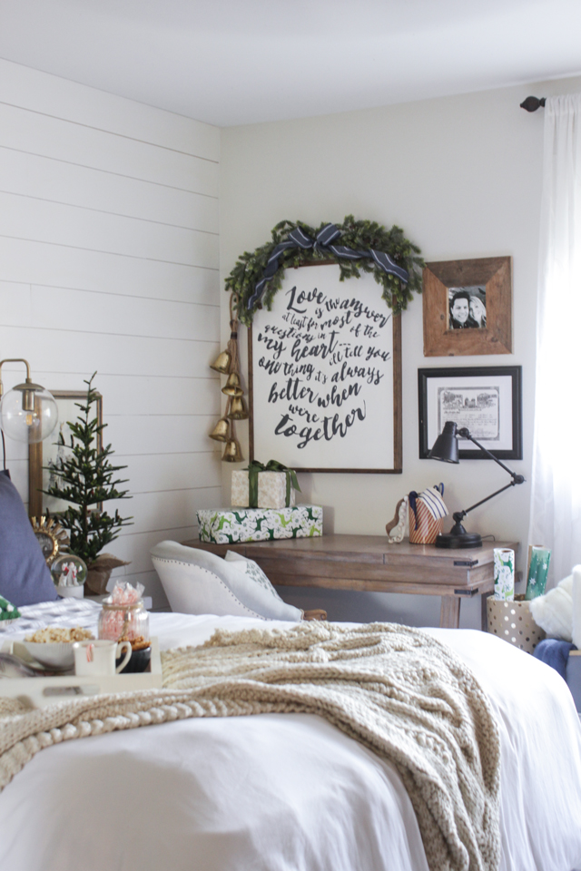 Rustic Christmas Master Bedroom - Shades of Blue Interiors on cabin christmas lights, cabin cooking, cabin decorating living room, decor for christmas, cabin crafts, cabin tattoos, cabin hunting, cabin carpet, cabin decorating for thanksgiving,