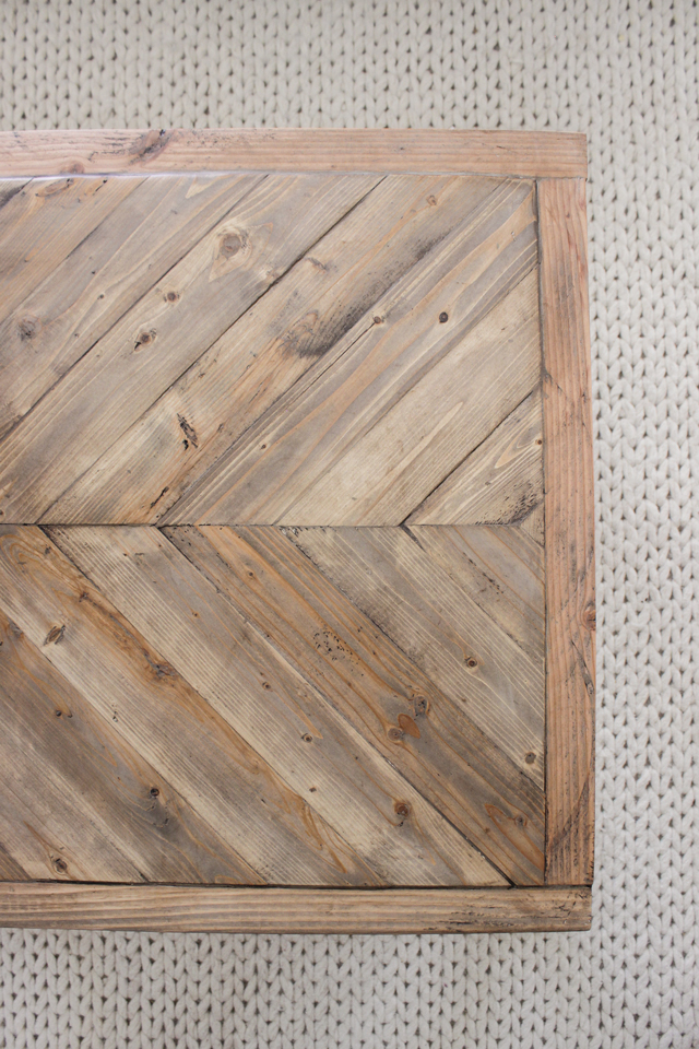Modern Farmhouse Herringbone Coffee Table