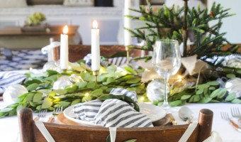 A Fresh Green Christmas Table