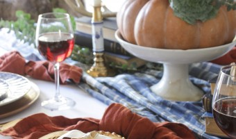 A Colorful Thanksgiving Tablescape