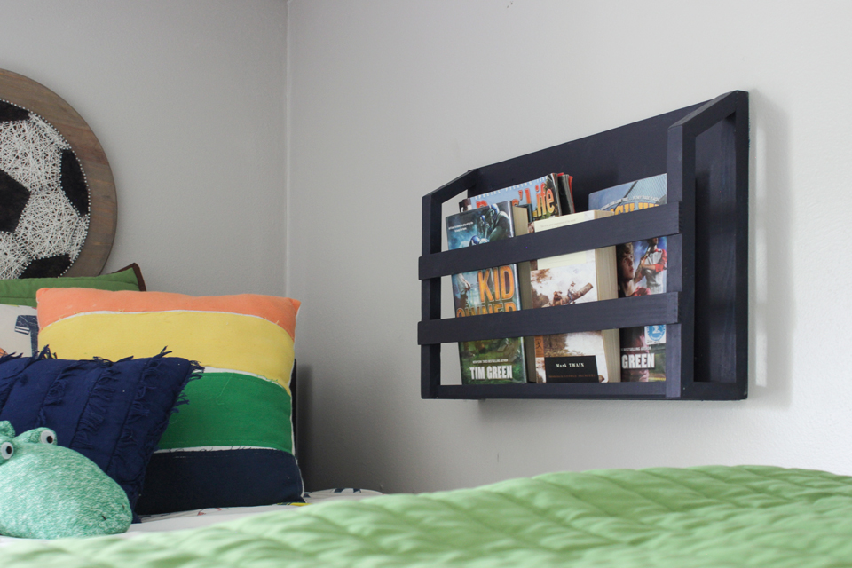 DIY Bedside Book Shelf