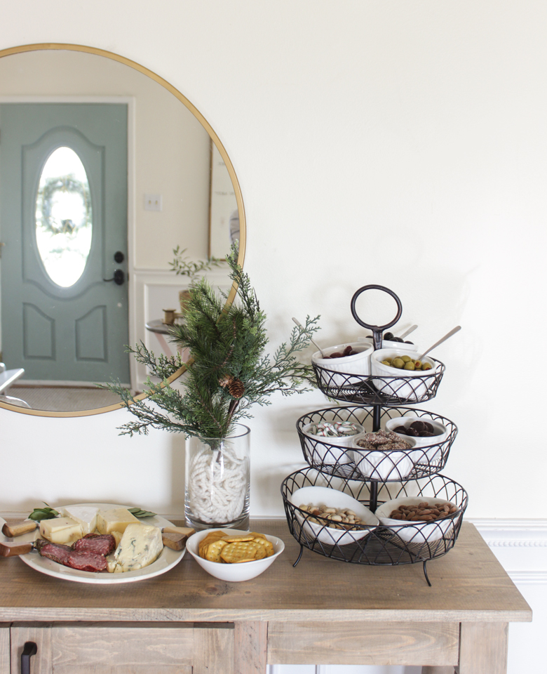 Buffet with mirror and charcuterie