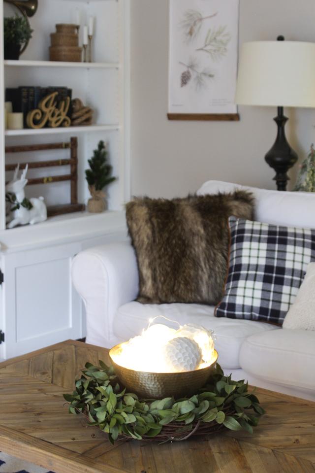 Woodland winter wonderland Christmas family room
