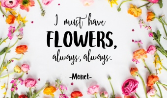 'I Must Have Flowers' Spring Printable