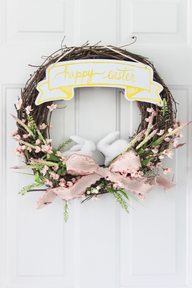 Easter Wreath - Shades of Blue Interiors