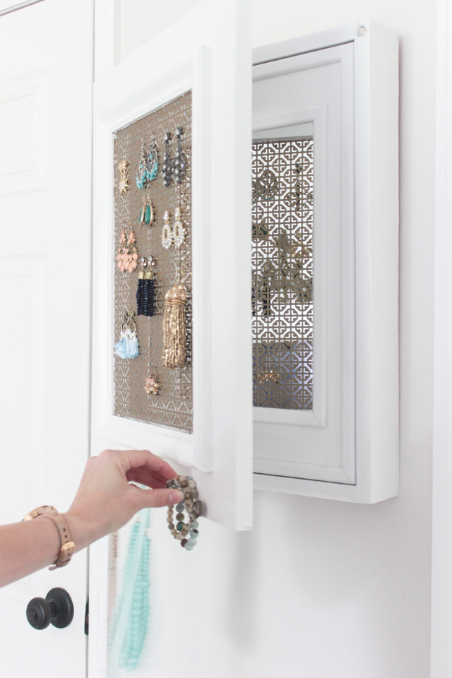 DIY Jewelry Holder with Secret Compartment - Shades of Blue Interiors
