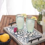 DIY Concrete Tray with Removable Coasters