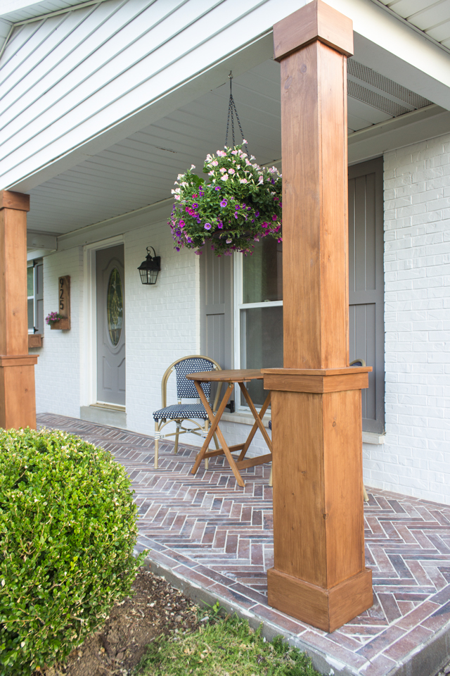 Diy Craftsman Style Porch Columns Shades Of Blue Interiors