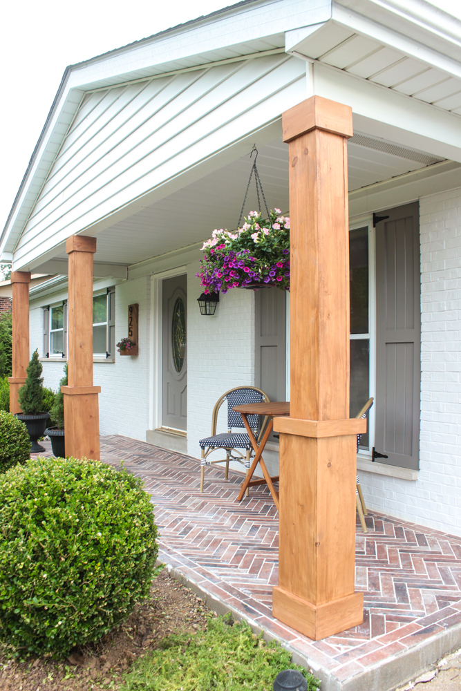 Front Porch Columns : Front porch makeover with behr giveaway shades