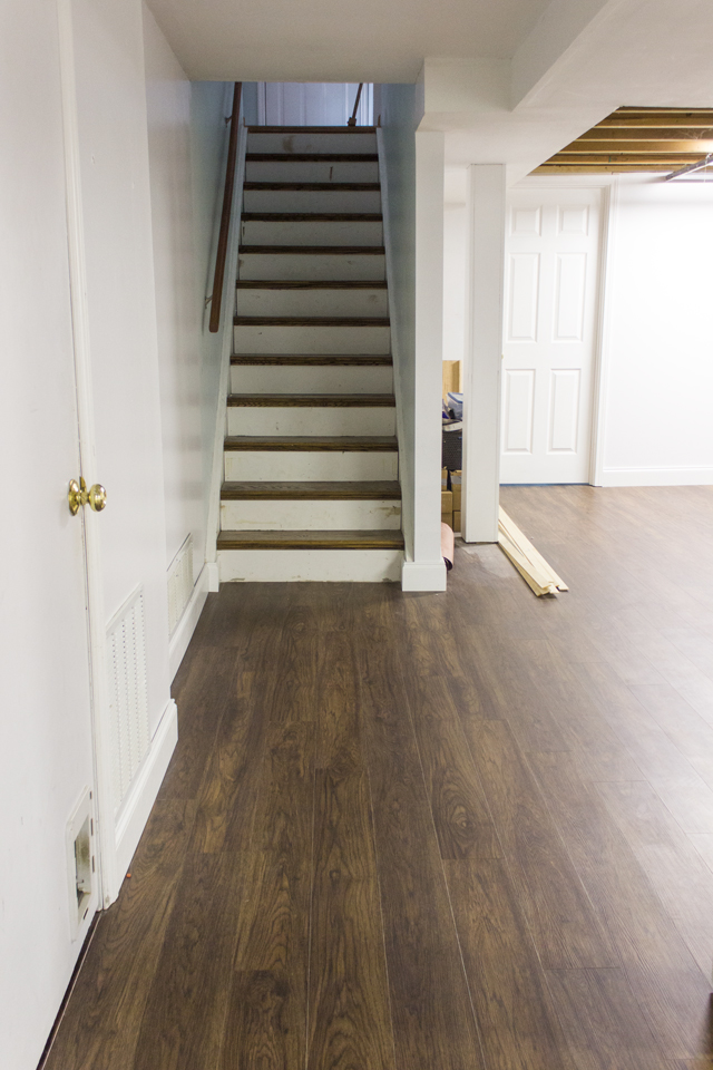 New Basement Flooring Shades Of Blue Interiors - How to put flooring in a basement