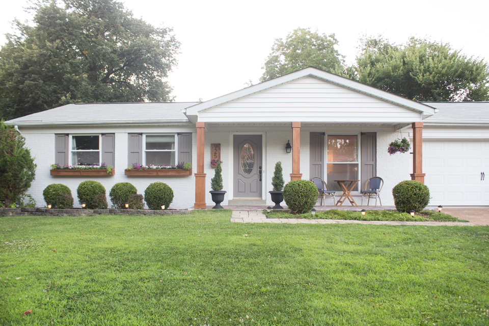 Brick ranch updated with white paint
