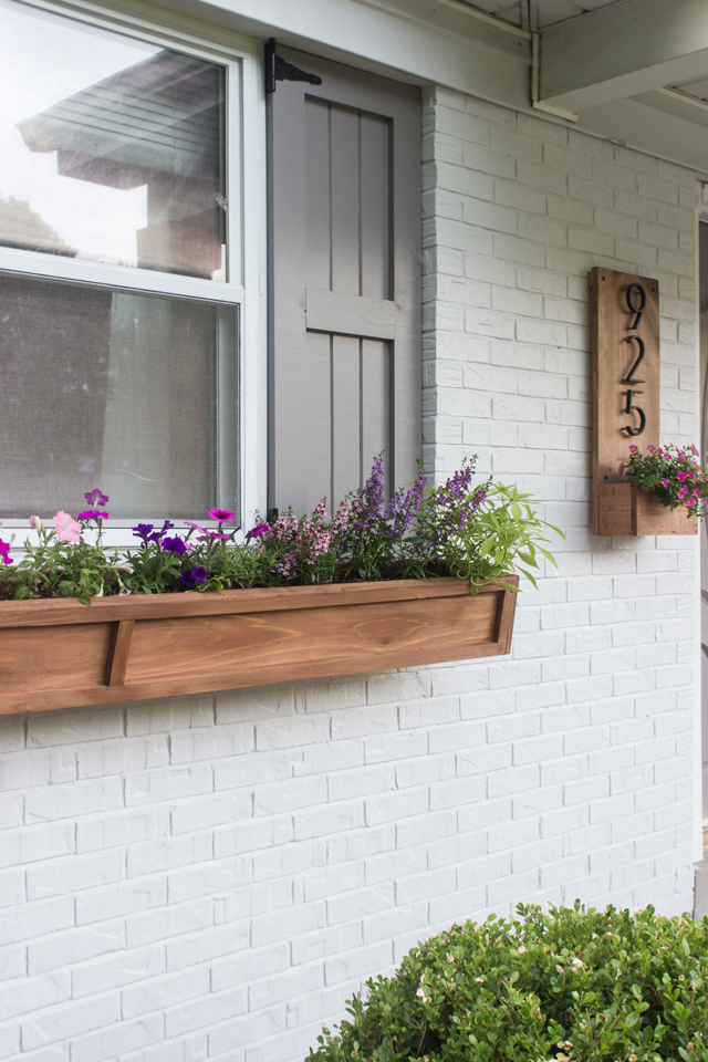 Diy Cedar Window Planters Shades Of Blue Interiors