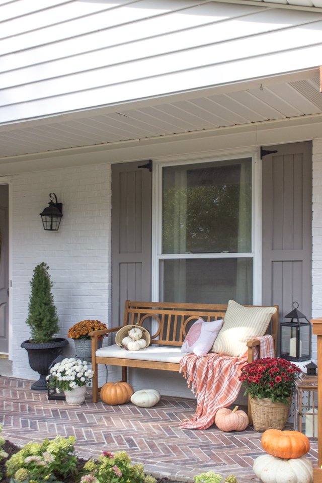 Front Porch Dressed Up for Fall