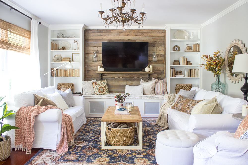 Fall Living Room Shades Of Blue Interiors