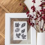 Block Printed Leaves