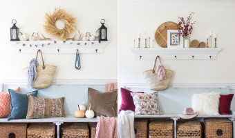 Two Ways to Style an Entry Bench For Fall