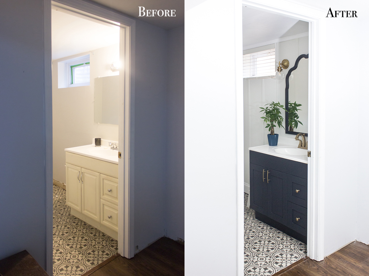 Basement Bathroom Makeover Shades Of Blue Interiors